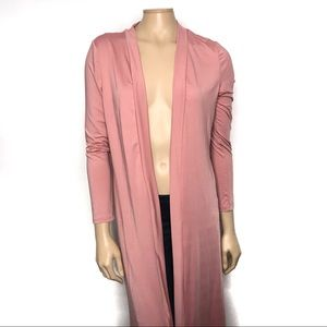 Shein Size Small Rose Pink Long Sleeve Long Duster